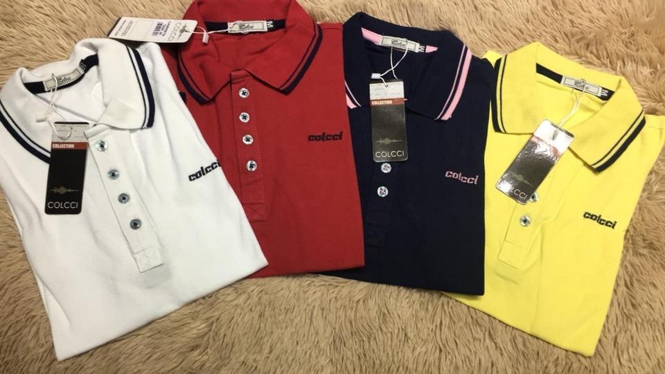 Kit 2 Camisas Colcci Gola Polo Feminino - MWgrifes - Aqui é Top! 8be389a4348bf