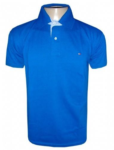 Camisa Polo Tommy Hilfiger Azul Royal Lisa TH0 - MWgrifes - Aqui é Top! 598eb4c4531