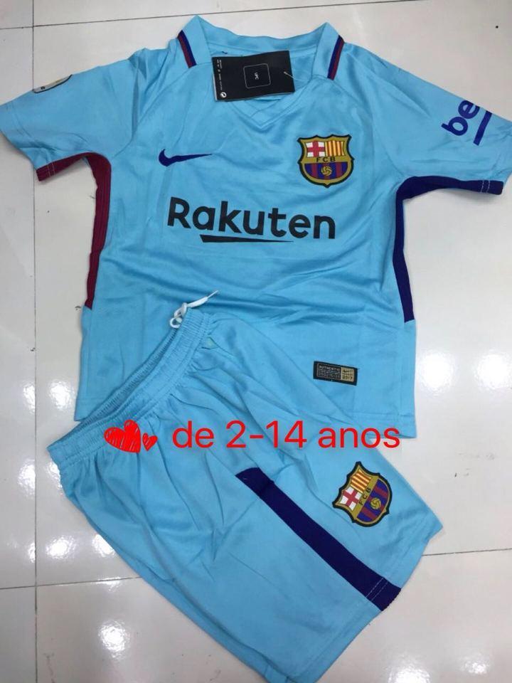 b346507c5bd3d Conjunto Barcelona Azul Nike Infantil - MWgrifes - Aqui é Top!
