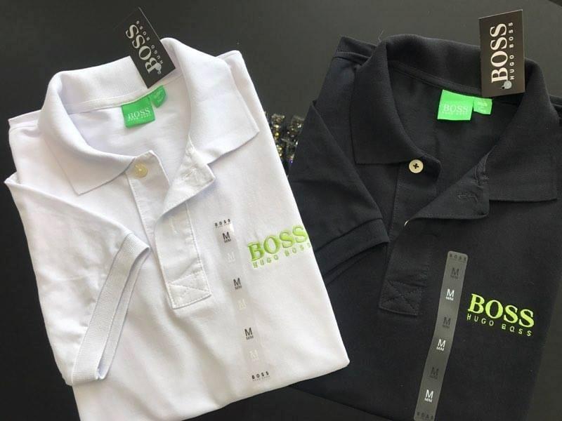 Kit com 2 Camisas Polo Hugo Boss 1 Branca + 1 Preta - MWgrifes ... 16de9b6c8a5