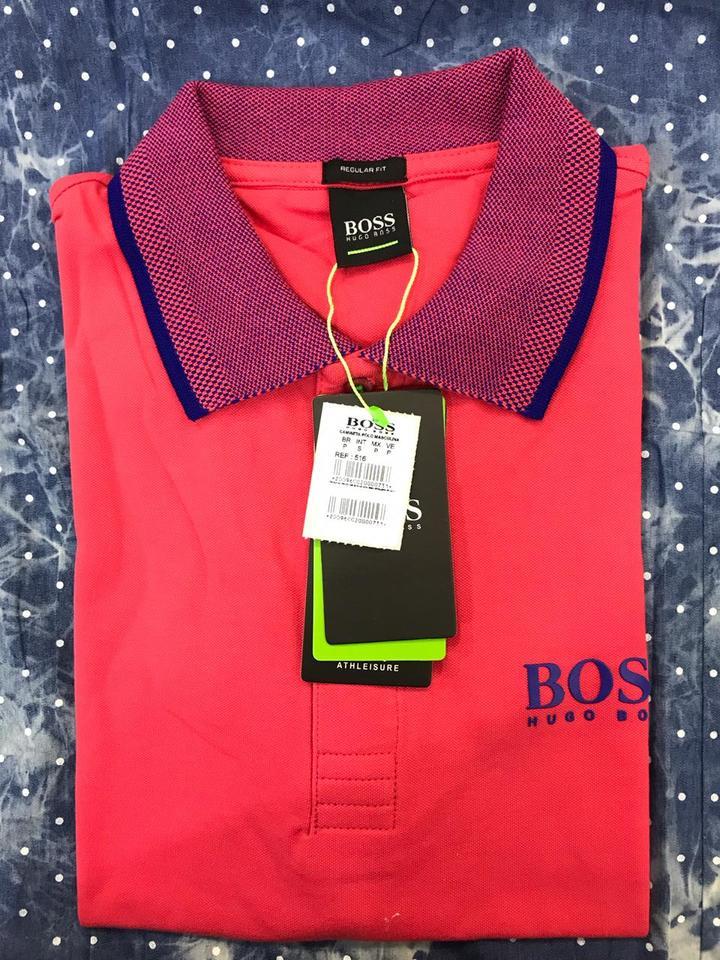 Camisa Polo Hugo Boss Laranja Ref 516 - MWgrifes - Aqui é Top! ca169d0a02e