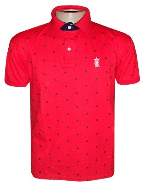 Camisa Polo Sérgio K Vermelha Caveiras SK810 - MWgrifes - Aqui é Top! 221614bb84220