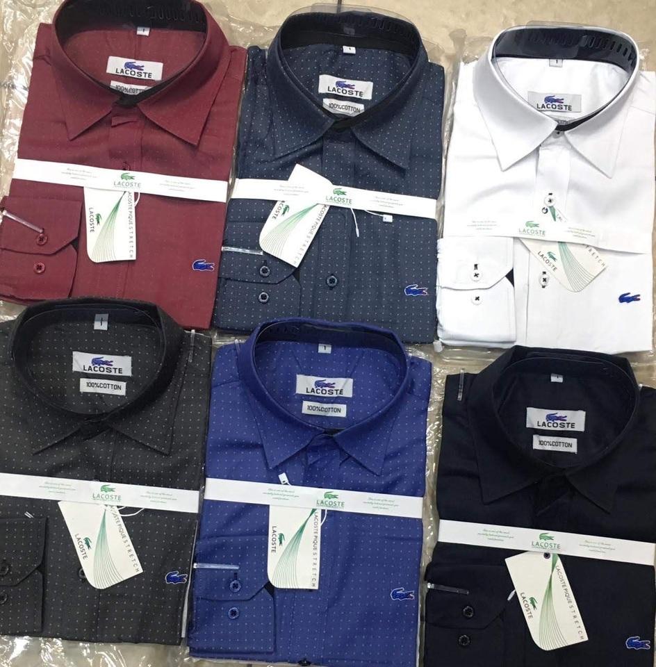 Camisa Social Lacoste Estampada Bolinhas Cotton - MWgrifes - Aqui é Top! 40c012ba21