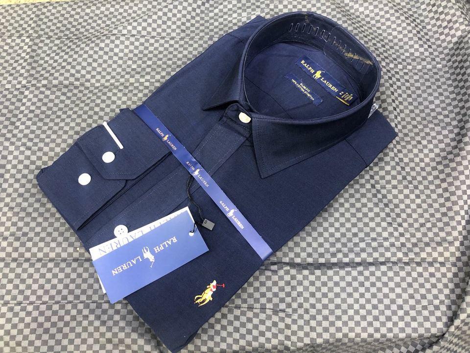 Camisa Social Ralph Lauren Azul Marinho Cotton - MWgrifes - Aqui é Top! 6be93a5bb68