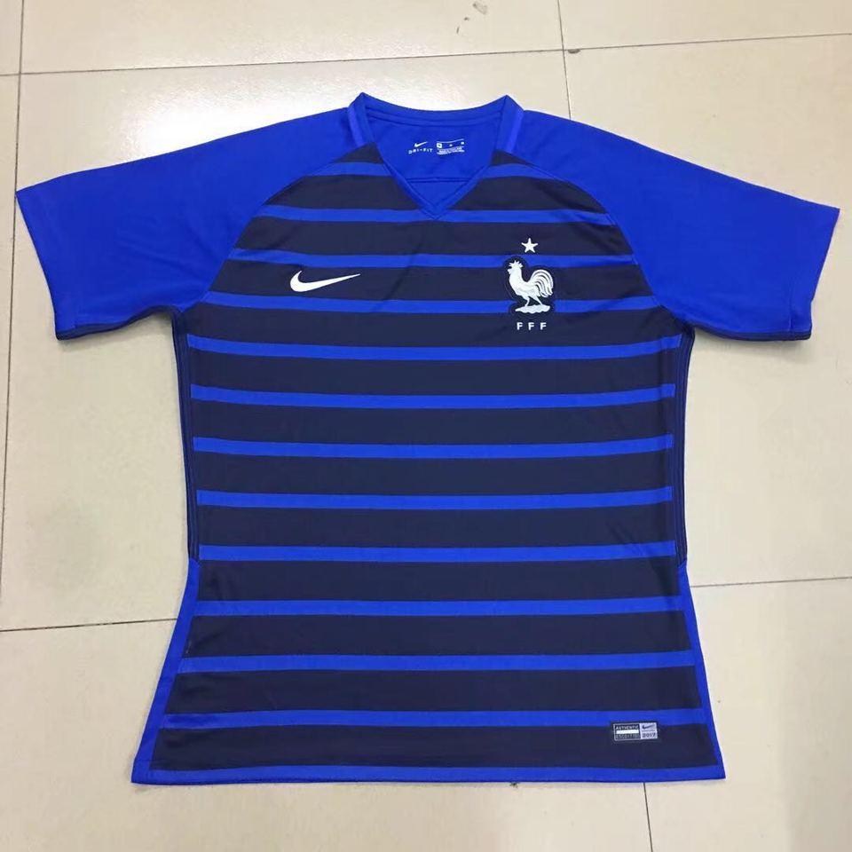 8f6031d46 Camisa Seleção França Nike Azul Listrada 2018 - MWgrifes - Aqui é Top!