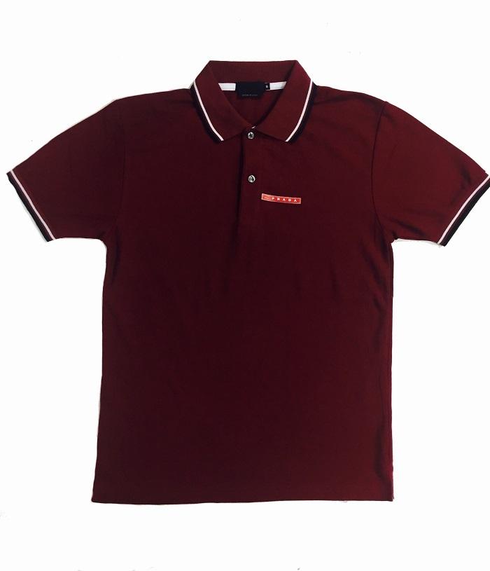Camisa Polo Prada Vinho Lisa - MWgrifes - Aqui é Top! 8a8e48fada