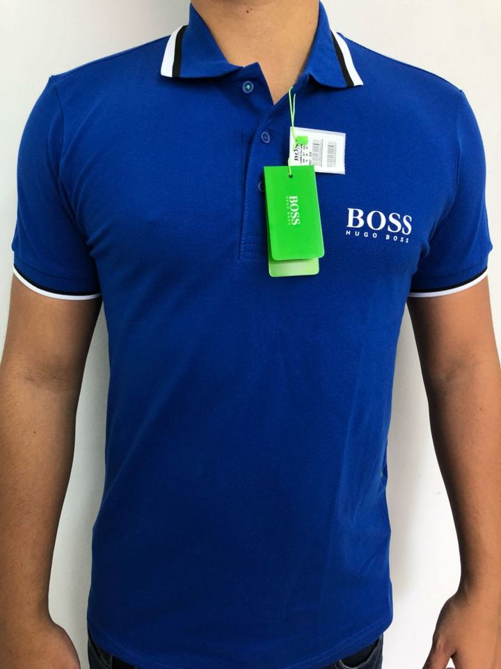 Camisa Polo Hugo Boss Azul Royal - MWgrifes - Aqui é Top! 4a1c3dbfd39