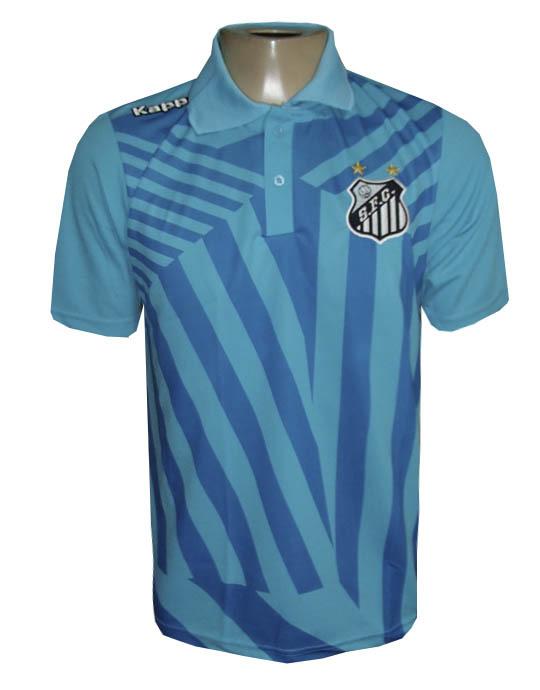 Camisa Polo Santos Kappa Azul Viagem 2017 - MWgrifes - Aqui é Top! f9e999ca9be