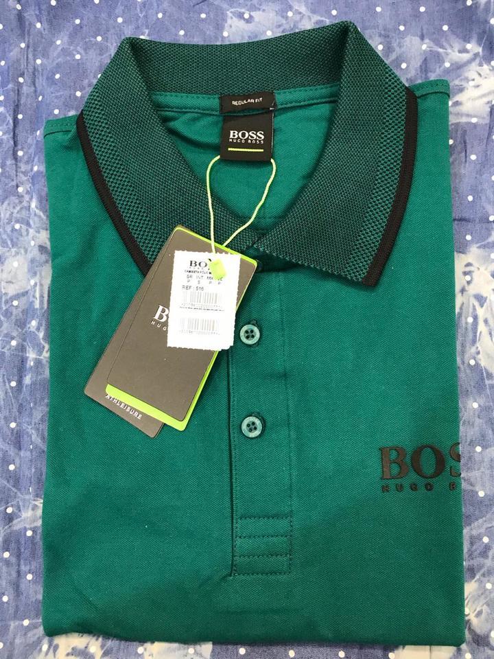 Camisa Polo Hugo Boss Verde Ref 516 - MWgrifes - Aqui é Top! 9e5fa4d0ca1