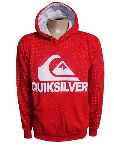 Blusa Moletom Quiksilver Vermelha Bolinhas - MWgrifes - Aqui é Top! 708208dfac