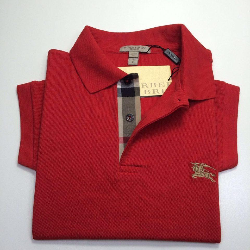 Camisa Polo Burberry Vermelha - MWgrifes - Aqui é Top! d2680f040084e