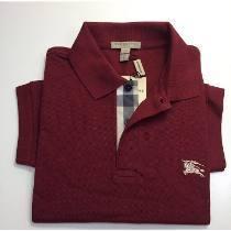 Camisa Polo Burberry Vinho - MWgrifes - Aqui é Top! 140ed4dd051