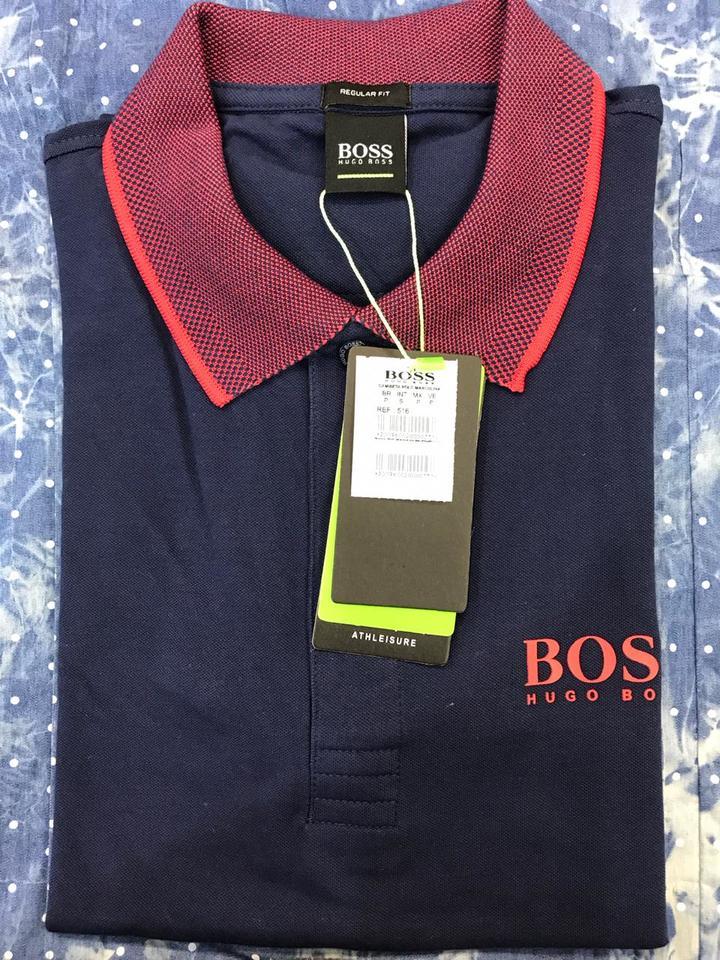 Camisa Polo Hugo Boss Azul Marinho Ref 516 - MWgrifes - Aqui é Top! 93d7dec82cb