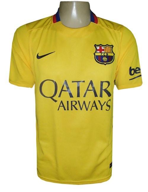 65df8b1ed57df Camisa Barcelona Nike Amarela 2015 16 - MWgrifes - Aqui é Top!
