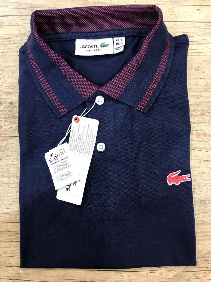 Camisa Polo Lacoste Azul Marinho Ref 525 - MWgrifes - Aqui é Top! 7741295b2b