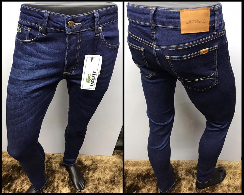 52f860eaa65f8 Calça jeans Lacoste Azul Escura Elastano - MWgrifes - Aqui é Top!