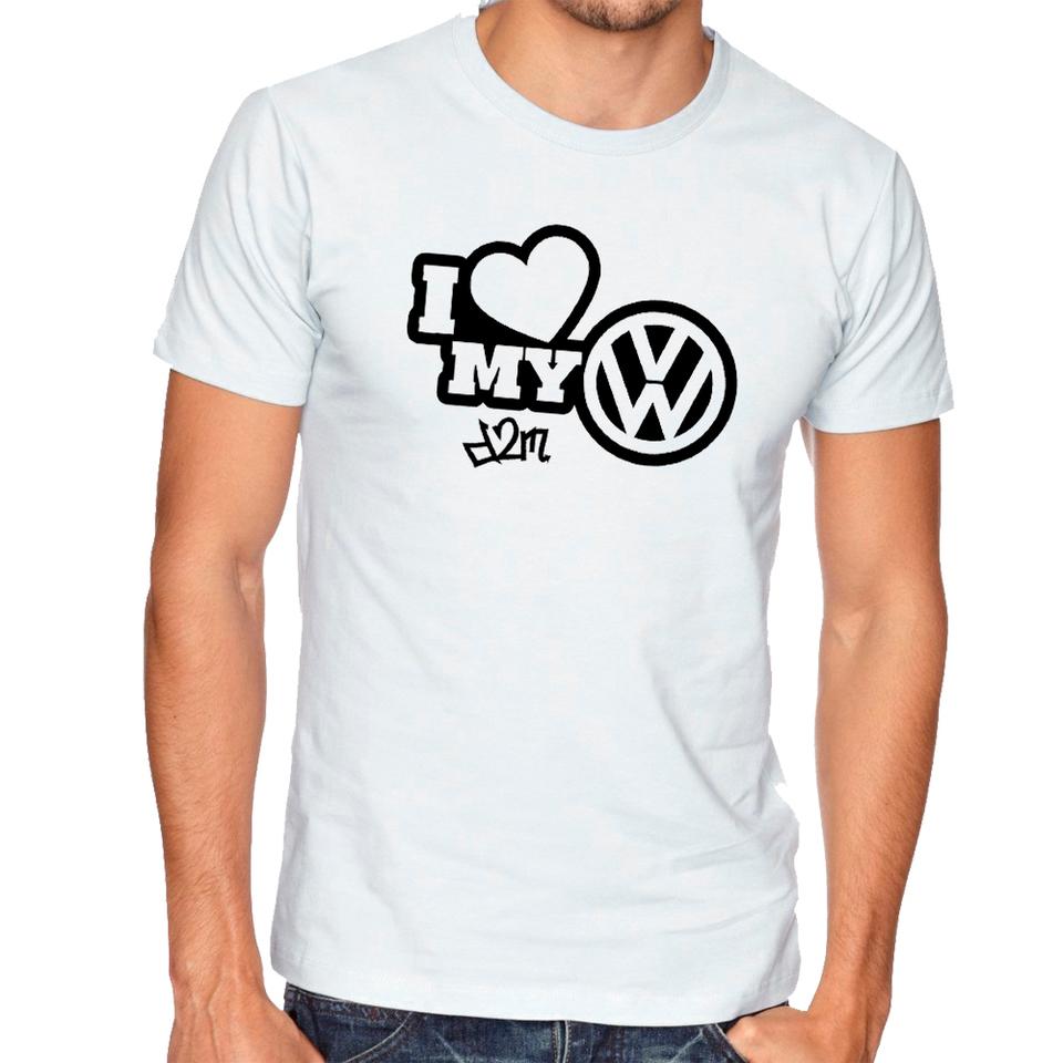 Camisa I Love VW D2M - Branca (Estampa Preta) - Loja Canal D2M 9b6cbd478a9