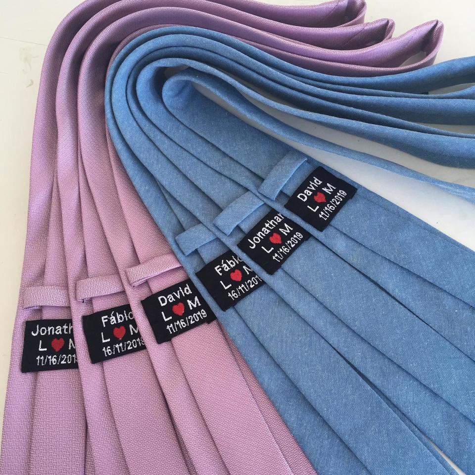 Gravatas Jacquard c/ etiqueta personalizada  ( (Veja O Catálogo))
