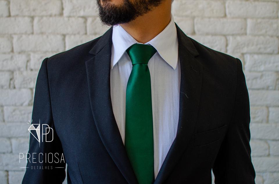 Gravata Verde Musgo Lisa Italiana