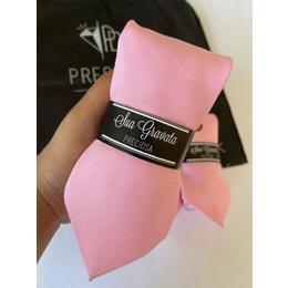 gravata rosa Oxford