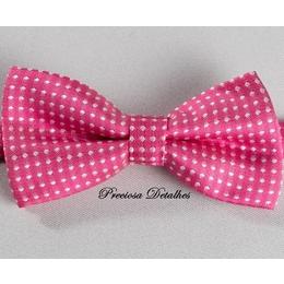 Gravata borboleta  Pink poá