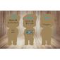 Almofada boneco 3D - Suspensório BEGE