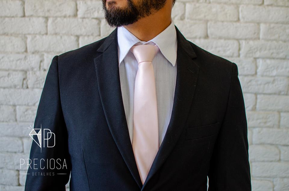 Gravata Marfim Lisa Italiana