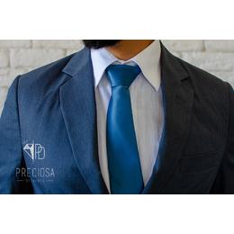Gravata Azul ardosia Italiana