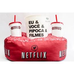 Kit pipoca Netflix vermelha