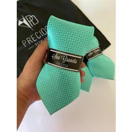 Gravata verde tiffany italiana com textura