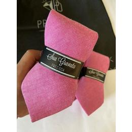 Gravata rosa pink linho