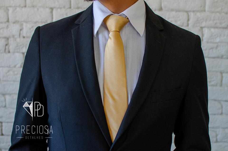 Gravata Dourado Italiana