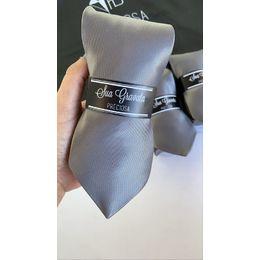 Gravata grafite metalizada jacquard