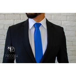 Gravata Italiana Azul Royal listrada