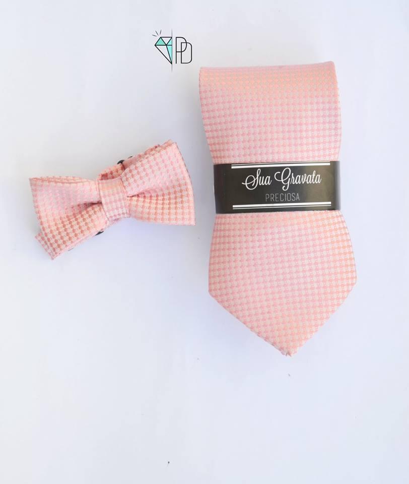 Gravata borboleta + gravata Tradicional  - escolha a cor