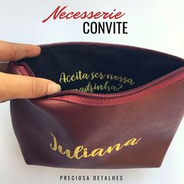 Necesserie Convite - ESCOLHA O TECIDO E A COR