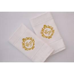 Toalha de Lavabo  Brasão bordado