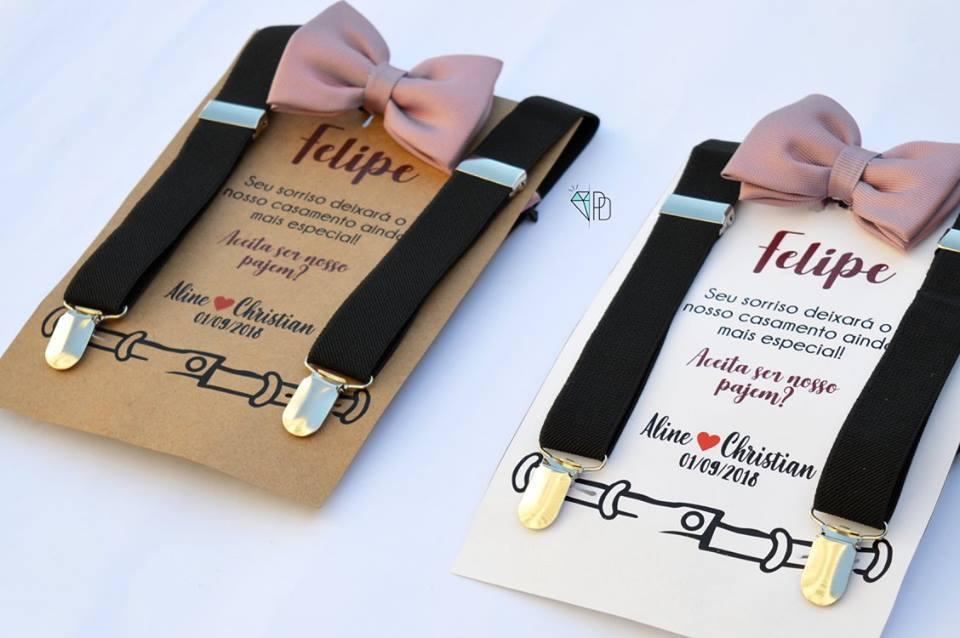 Kit pajem  -          Convite  ( Kraft ou Branco)