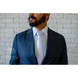 Gravata Prata Italiana Lisa - toque de seda