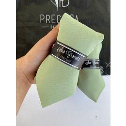 Gravata verde oliva lisa Oxford