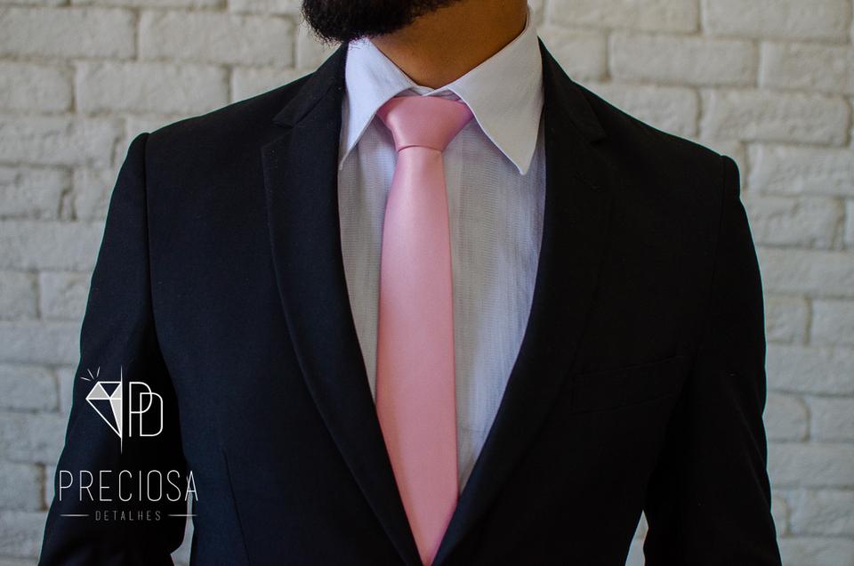Gravata Rosa cha Italiana Lisa