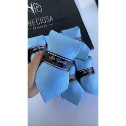 Gravata azul serenity claro listrado