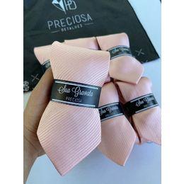 Gravata rosa Nude listrada