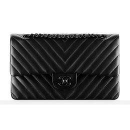 940d1bb78 Bolsa Chanel Classic Flap Chevron