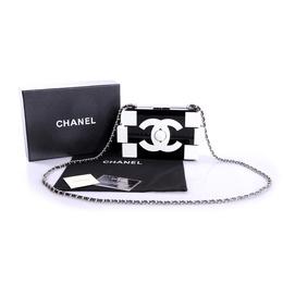2f56c3d0b Clutch Chanel Lego White/Black