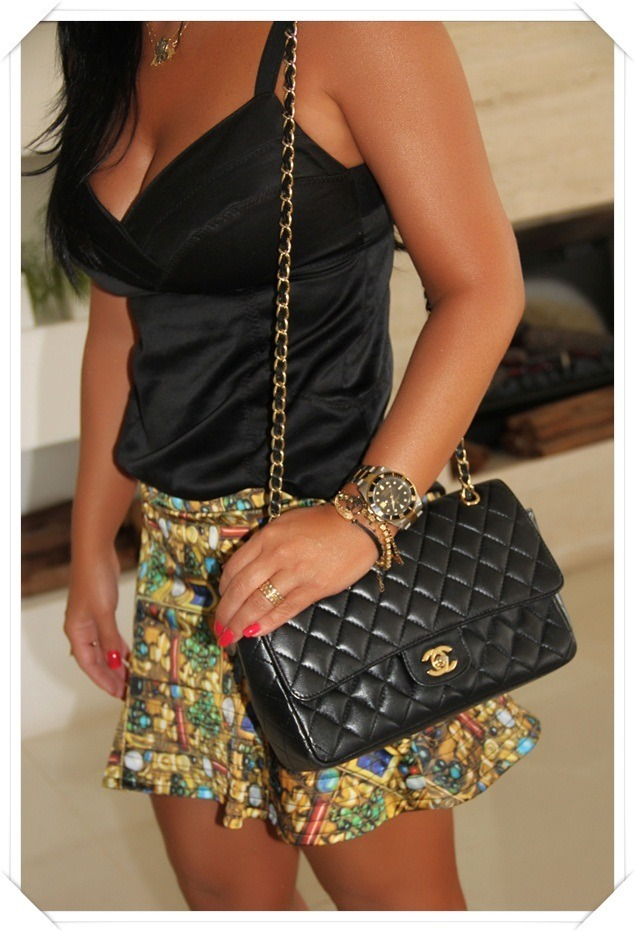 edc7bb6939b96 Bolsa Chanel Classic Flap Medium Caviar Bolsa Chanel Classic Flap Medium  Caviar