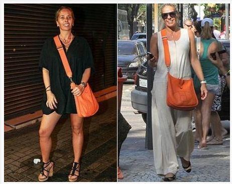 15c22c61db2 Bolsa Hermès Evelyne Orange - Maria Valentina Store