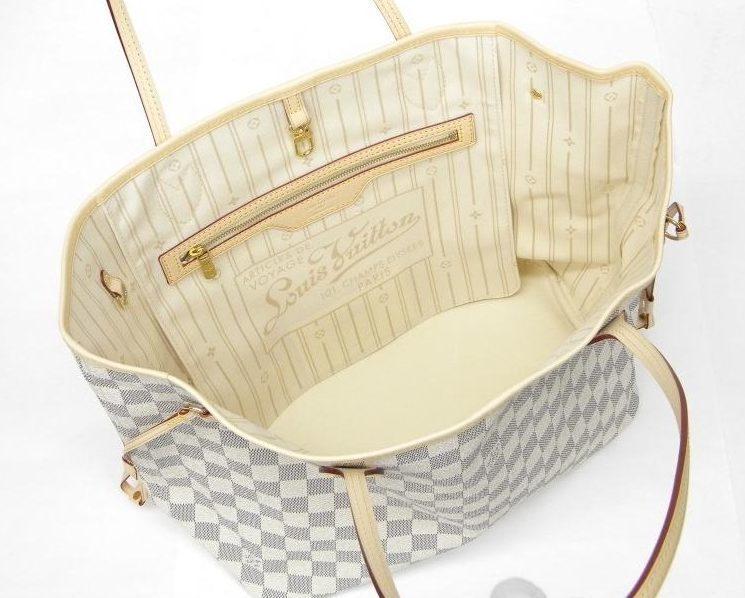 ccd77727b Bolsa Louis Vuitton Neverfull Canvas Damier Azur MM - Maria ...