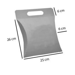 caixa almofada branca em cartão duplex