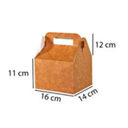 caixa maleta kraft (G) para alimentos